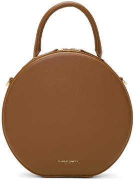 Mansur Gavriel Tan Mini Circle Crossbody Bag