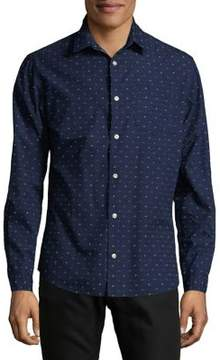 Jack and Jones Printed Cotton Casual Button-Down Shirt