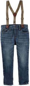 Osh Kosh Boys 4-12 Slim Fit Suspender Jeans