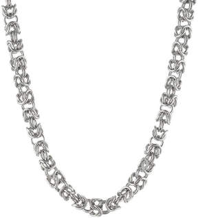 JCPenney FINE JEWELRY Mens Stainless Steel 24 7mm Byzantine Chain