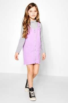 boohoo Girls O Ring Frayed Hem Pinny Dress