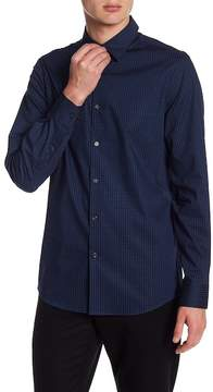 Perry Ellis Dotted Long Sleeve Slim Fit Shirt