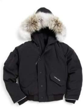 Canada Goose Kid's Fur-Trimmed Down Bomber Jacket