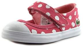 Lacoste Zayla Toddler Round Toe Canvas Pink Sneakers.