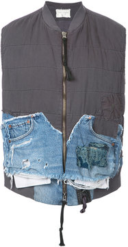 Greg Lauren patchwork gilet