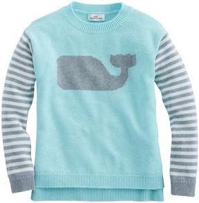 Vineyard Vines Girls Stripe Whale Intarsia Sweater