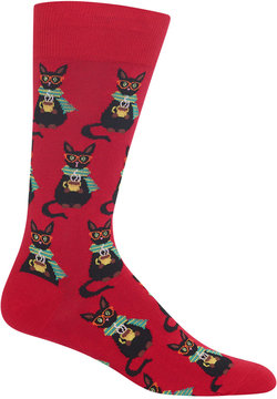 Hot Sox Men's Coffee Cat Socks