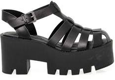 Windsor Smith Women's Black Leather Sandals.