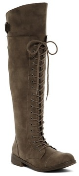 Madden-Girl Carra Lace-Up Knee High Boot