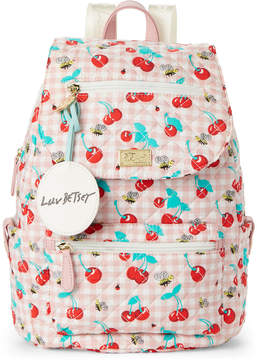 Betsey Johnson Luv Betsey By Cherries Quilted Flap Backpack
