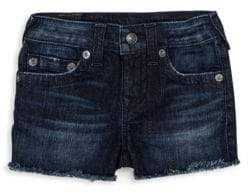 True Religion Toddler's, Little Girl's& Girl's Joey Raw Edge Denim Shorts