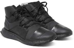 Y-3 Kozoko Rubber-Trimmed Mesh High-Top Sneakers