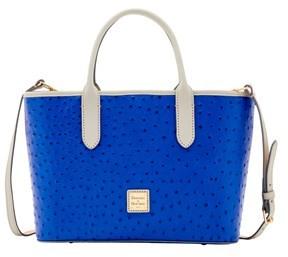 Dooney & Bourke Ostrich Brielle Top Handle Bag. - COBALT LIGHT GREY - STYLE