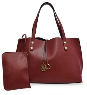 Adrienne Vittadini The Caroline Collection Large Womens Tote With Accessory Pouch.