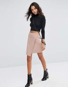 Asos Wrap Mini Skirt in Scuba