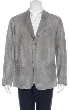Avant Toi Lightweight Striped Blazer