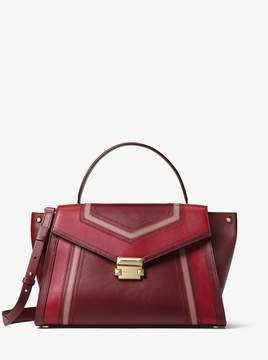 MICHAEL Michael Kors Whitney Large Tri-Color Leather Satchel