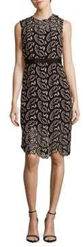 Cynthia Rowley Paisley Lace Fitted Dress