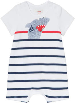 Catimini White and Navy Shark Romper