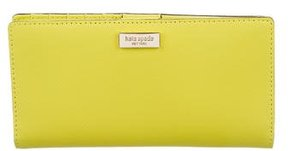 Kate Spade Leather Logo Wallet - YELLOW - STYLE