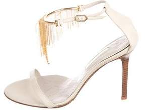 Cesare Paciotti Leather Embellished Sandals