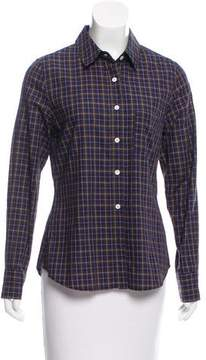 Boy By Band Of Outsiders Plaid Long Sleeve Button-Up