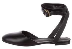 Jenni Kayne Leather Ankle-Strap Flats