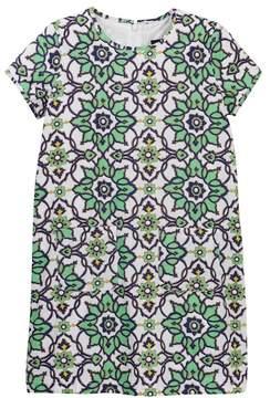Toobydoo Fleur Green Shift Dress (Toddler, Little Girls, & Big Girls)