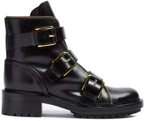 Balmain Ranger multi-strap leather ankle boots