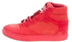Balenciaga Embossed Nubuck Sneakers
