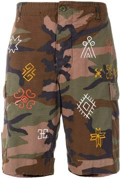 HTC Los Angeles camouflage fitted shorts