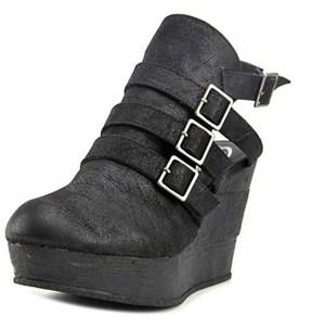 Sbicca Gomez Women Open Toe Synthetic Black Wedge Heel.