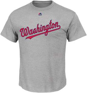 Majestic Big & Tall Washington Nationals Official Road Wordmark Tee
