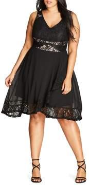 City Chic Seduction Fit & Flare Dress
