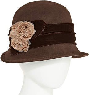 Scala Rose Cloche Hat
