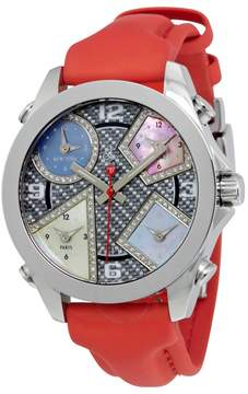 Jacob & co Jacob and Co. Five Time Zone Carbon Fiber and Mother of Pearl Diamond Ladies Watch