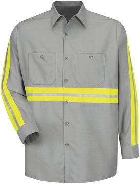 JCPenney Red Kap Long-Sleeve Enhanced Visibility Work Shirt - Big & Tall