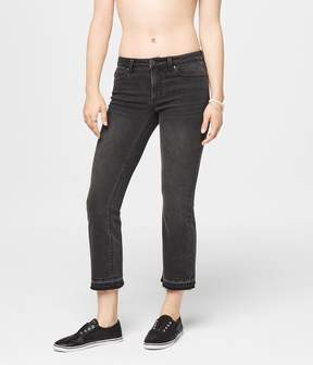 Aeropostale Seriously Stretchy Mid-Rise Crop Skinny Kick Flare Jean