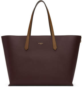 Givenchy Burgundy GV Shopper Tote