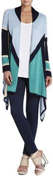 BCBGMAXAZRIA Beret Color-Blocked Cardigan Wrap