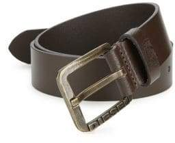 Diesel Engraved Logo Leather Belt