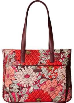 Vera Bradley Commuter Tote Tote Handbags - BOHEMIAN BLOOMS - STYLE