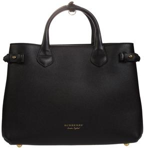 Burberry House Check Detail Tote - NERO - STYLE