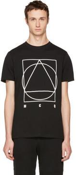 McQ Black Glyph Logo T-Shirt