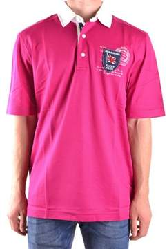 Paul & Shark Men's Fuchsia Cotton Polo Shirt.