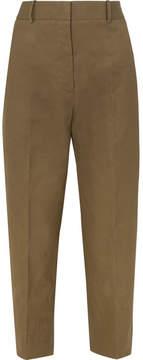 Jil Sander Cotton-canvas Pants - Army green