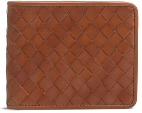 Trask Men's Woven Leather Wallet - Brown