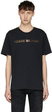 Pierre Balmain Navy Logo T-Shirt