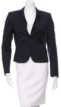 Calvin Klein Collection Wool & Cashmere-Blend Fitted Blazer