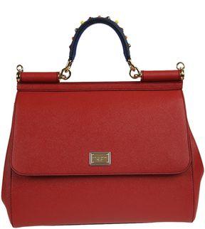 Dolce & Gabbana Medium Sicily Tote - RED - STYLE